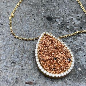 Druzy necklace pavé CS's vermeil jewelry